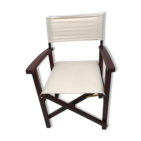 Chaise style colonial pliante