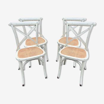 4 chaises française saint rémy restaurant bistrot bois courbé