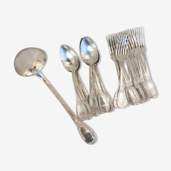 Ménagère 25 pièces en métal argenté