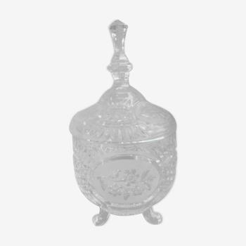 Bonbonnière en cristal h 25 cm