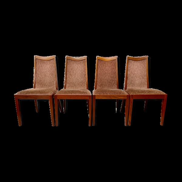 Ensemble de 4 chaises à manger vintage