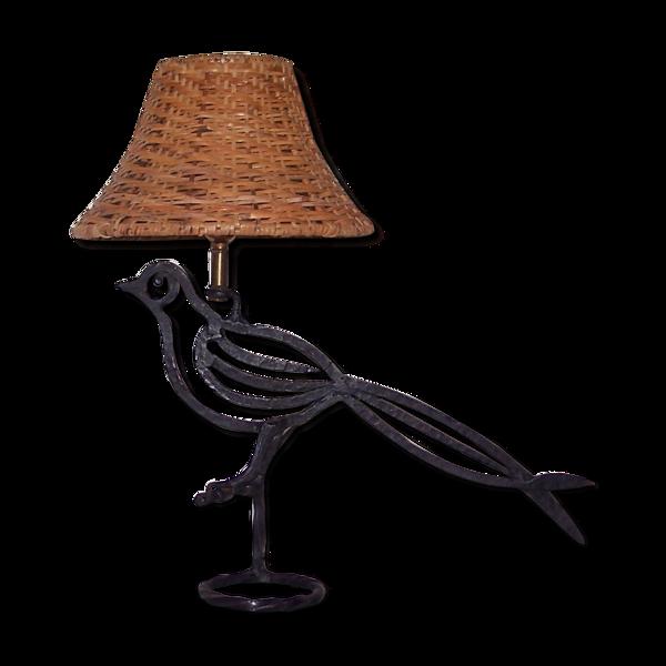 Lampe zoomorphe oiseau des années 50