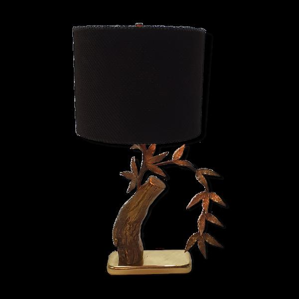 Lampe de table d'arbre en laiton massif du milieu du siècle, années 1960
