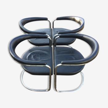 Set de 4 chaises Anton Lorenz pour Thonet model ss33