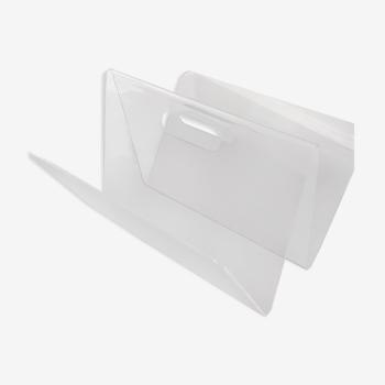 Porte revues en plexiglas transparent