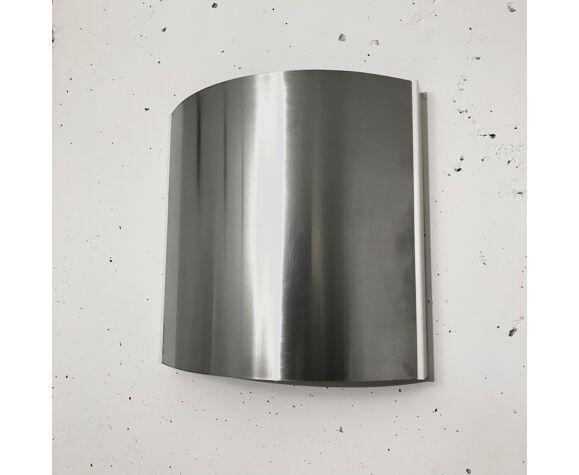 Lot de trois appliques, aluminium brossé 1970