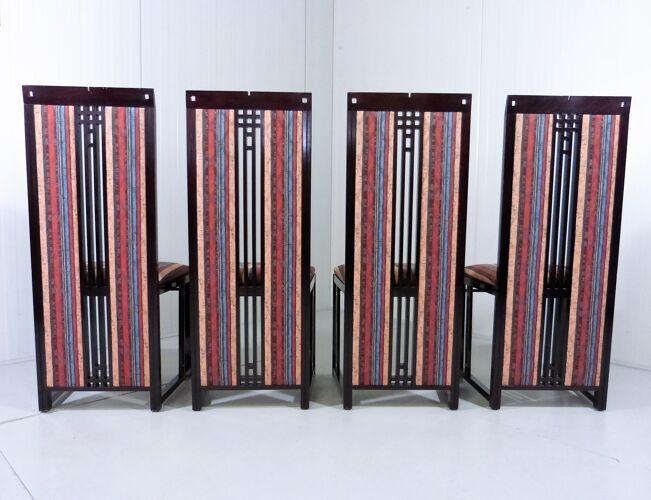 Ensemble de 4 chaises à manger par Umberto Asnago pour Giorgetti, Italie