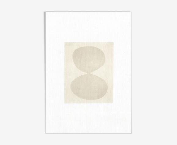 Peinture sur papier composition abstraite signée Eawy sans cadre M261
