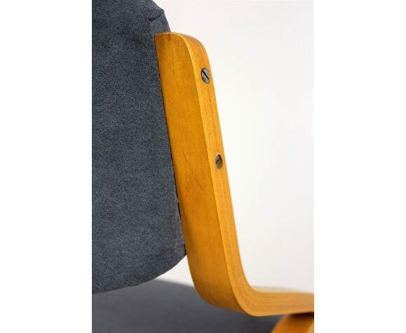 Chaises tchèques de contreplaqué bent de Holesov, 1970