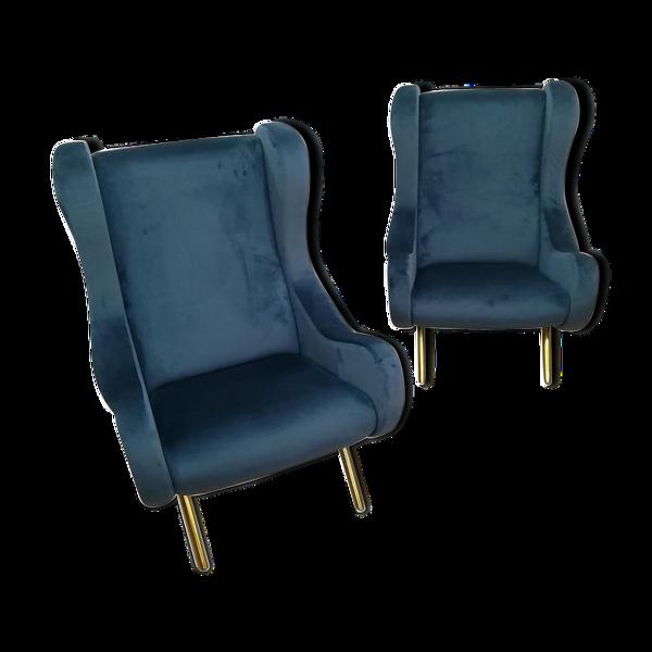 Selency Paire de fauteuils Italiens vers 60/70