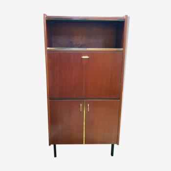 Vintage secretary teak modernist office library