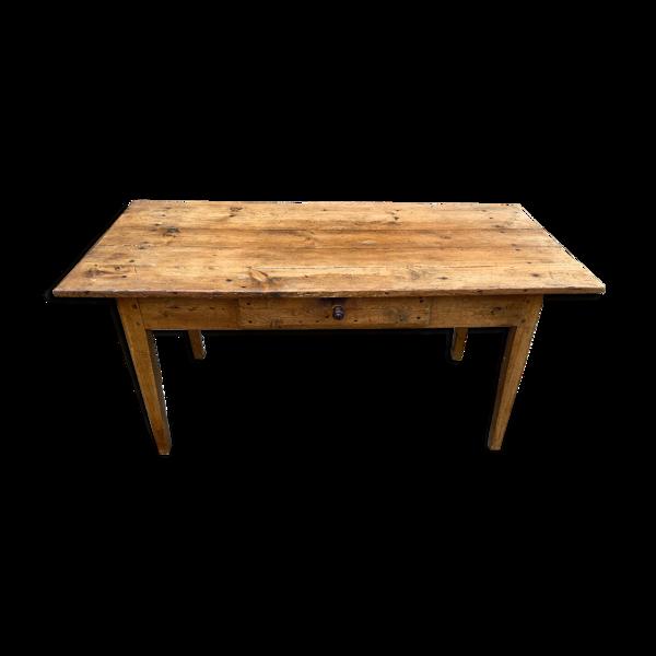 Table de ferme ancienne en chêne 153cm
