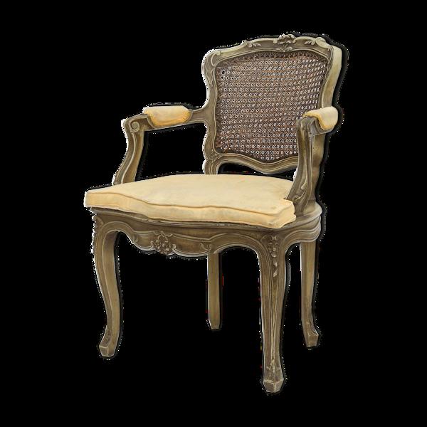 Fauteuil canné de style Louis XV