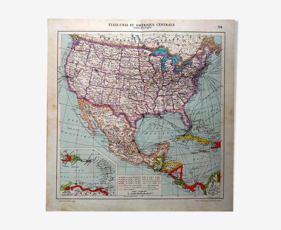 Carte Etats-Unis d'Amérique