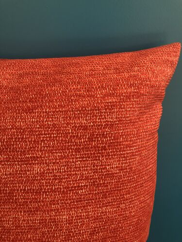 Red striped cushion
