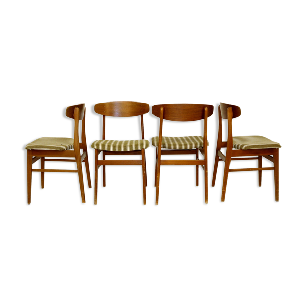 Selency Set de 4 chaises en teck, SAX, Danemark, 1960