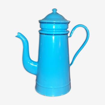 Cafetière en email bleu