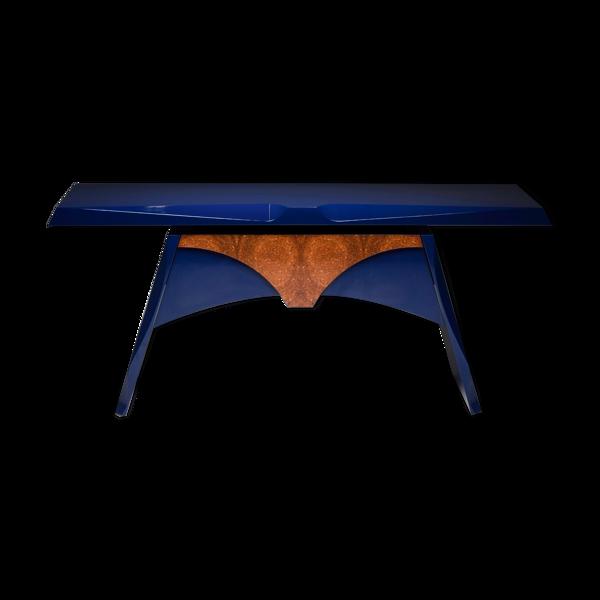 Selency Table bleue de console laquée - années 80