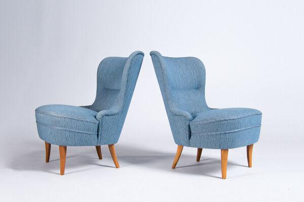 Paire de fauteuils, Suède années 1950