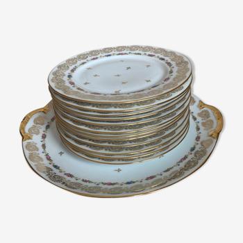 Service à dessert en porcelaine de Limoges