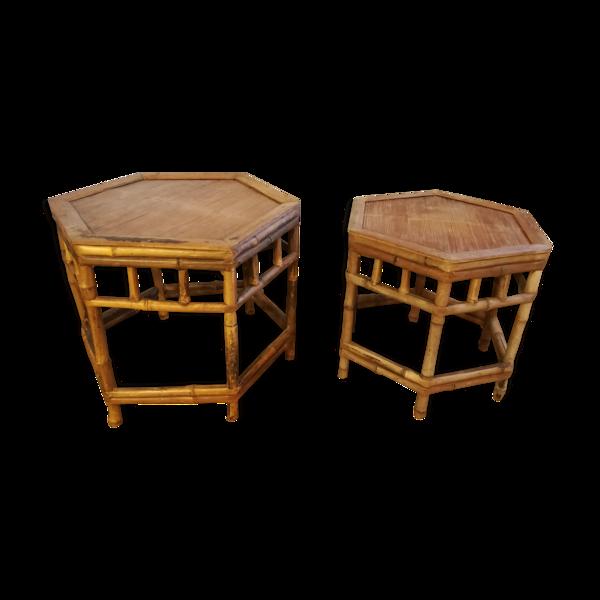 2 Tables gigognes en bambou