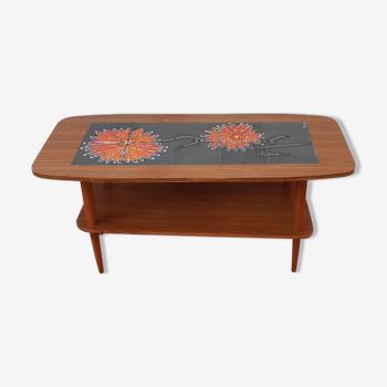 Table basse de salon carrelée