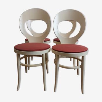 Set de 4 chaises Baumann modèle Mouette