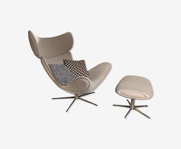 Imola armchair & ottoman Bo Concept