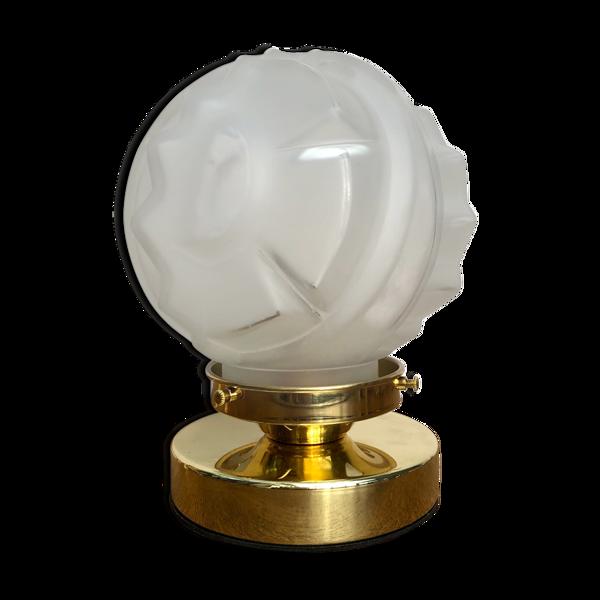 Lampe à poser globe vintage art déco