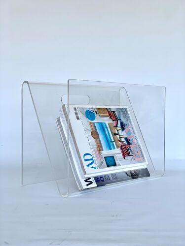 Porte-revues plexiglas design des années 70