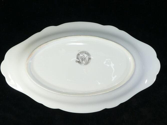 Raviers ovale en porcelaine de Limoges pour E. Bourgeois Paris