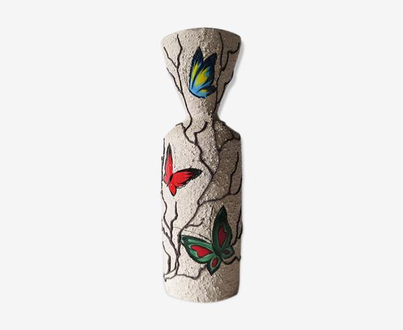 Vase fat lava papillons