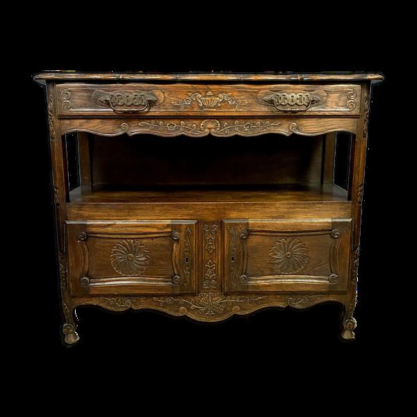Selency Buffet Louis XV provençal en bois massif vers 1880-1900