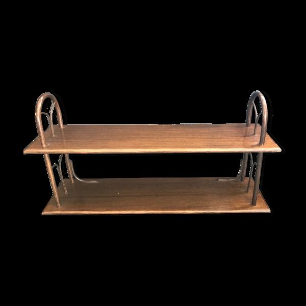 Étagère bois courbe vintage