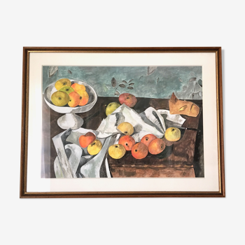 Tableau moderniste aquarelle 1970