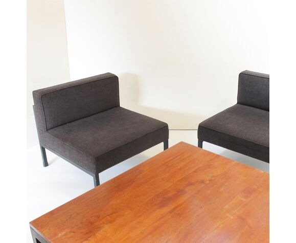 Table basse et deux 2 fauteuils par Wim den Boon, Pays-Bas 1958