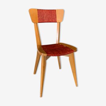 Chaise bois et corde naturelle vintage