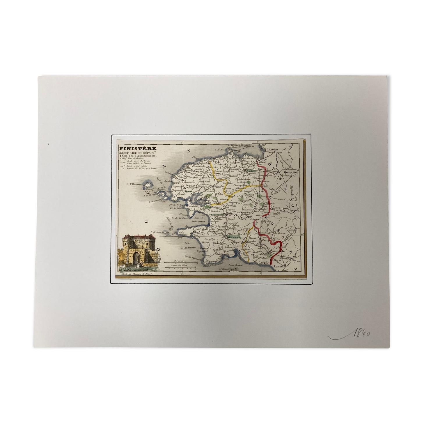 Carte ancienne du Finistère