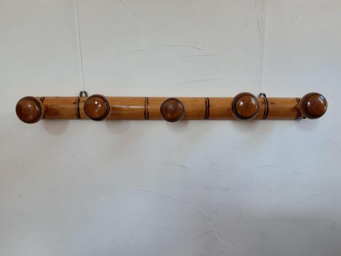 Patère style bambou à 5 têtes
