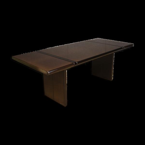 Selency Table italienne en bois exotique