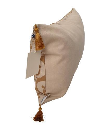 Housse de coussin ottoman beige / ocre havane - 30 x 50