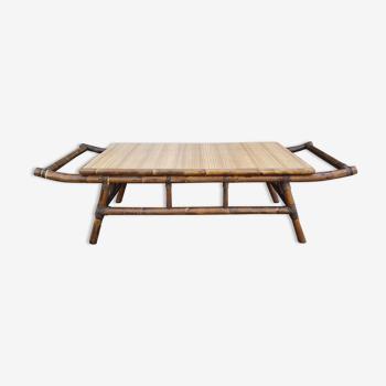 Table basse bambou esprit asiatique