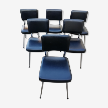 Lot de 6 chaises Oem Strafor 60s