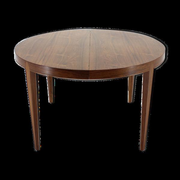 Table à manger en bois de rose extensible Severin Hansen des années 1960 pour Haslev Møbelsnedkeri