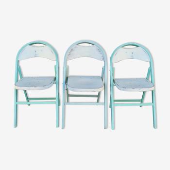 Série de 3 chaises pliantes modèle 751 de Thonet