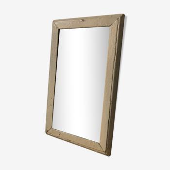 Miroir ancien cadre en bois 18x30cm