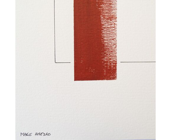 Etude rouge n°1A