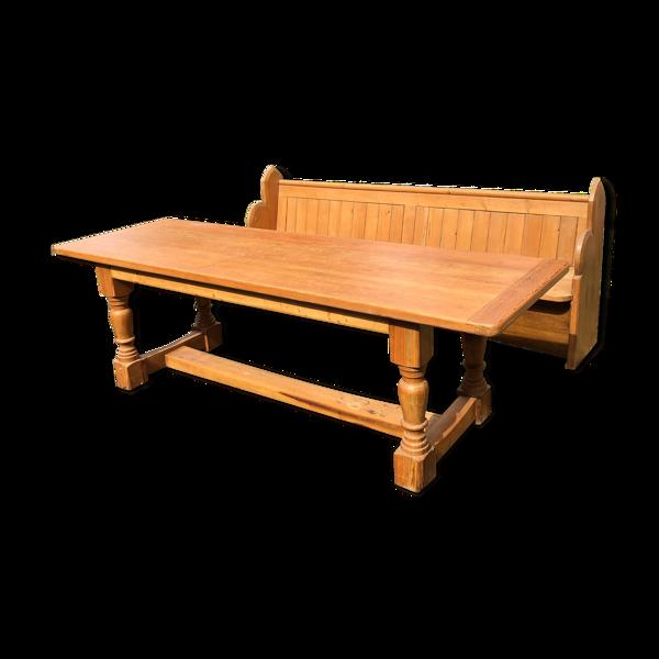 Selency Table en bois et son banc