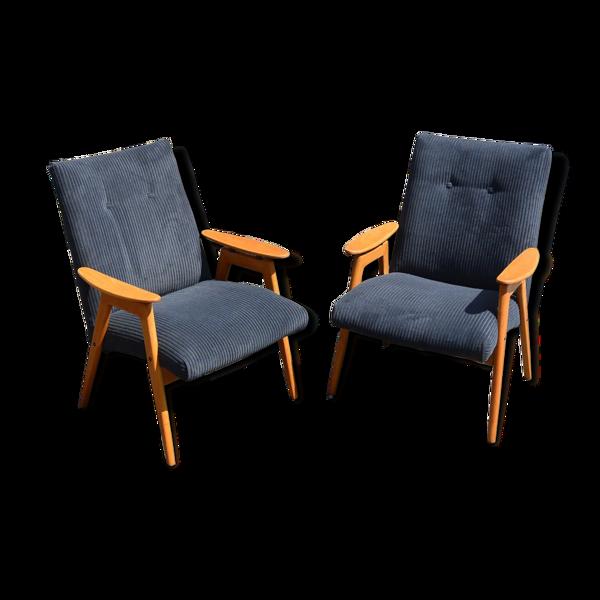 Paire de fauteuils de Jaroslav Šmídek
