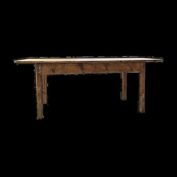 Selency Table de ferme en pin 2m